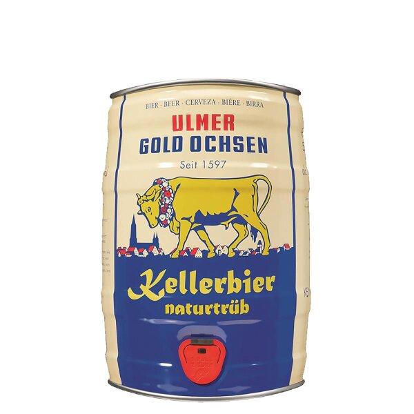 Gold Ochsen Kellerbier 5 liter Fass / Partyfass EINWEG