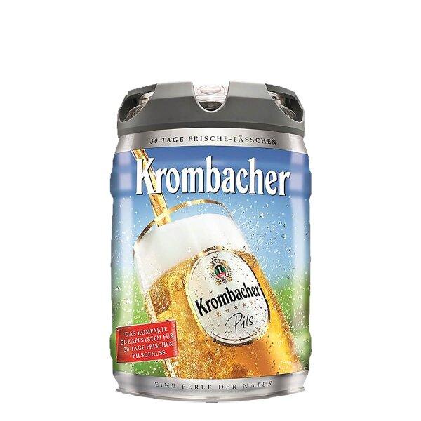 Krombacher Pils 5 liter Frischefässchen / Partyfass EINWEG