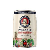 Paulaner Hefe Weißbier 5 liter Fass / Partyfass EINWEG