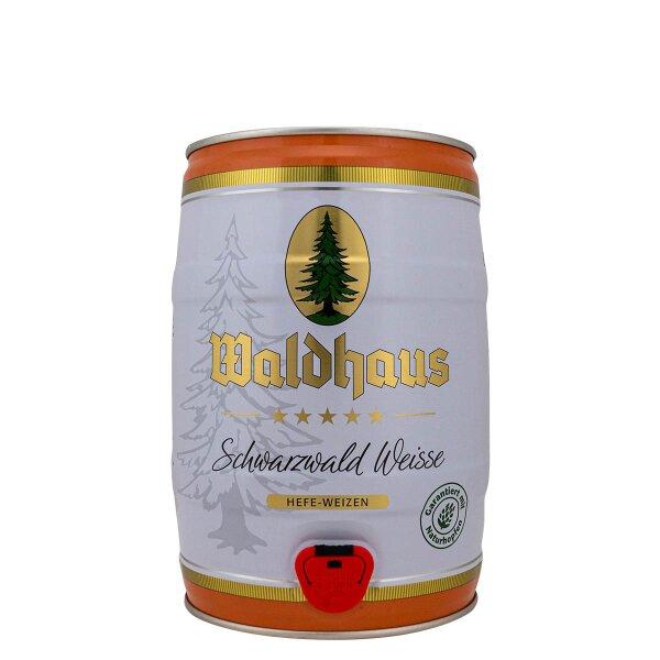 Waldhaus Schwarzwald Weisse 5 liter Fass / Partyfass EINWEG