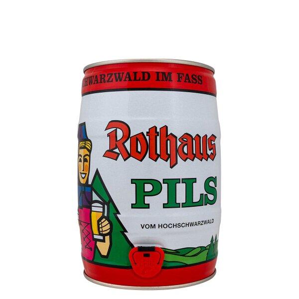 Rothaus Pils 5 liter Fass / Partyfass EINWEG