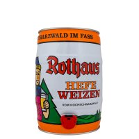Rothaus Hefe Weizen 5 liter Fass / Partyfass EINWEG