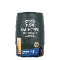Bauhöfer Export 5 liter Fass / Partyfass EINWEG