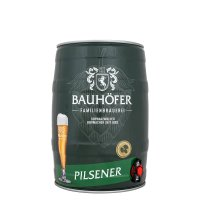 Bauhöfer Pils 5 liter Fass / Partyfass EINWEG