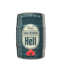 Gold Ochsen Hell 5 liter Fass / Partyfass EINWEG