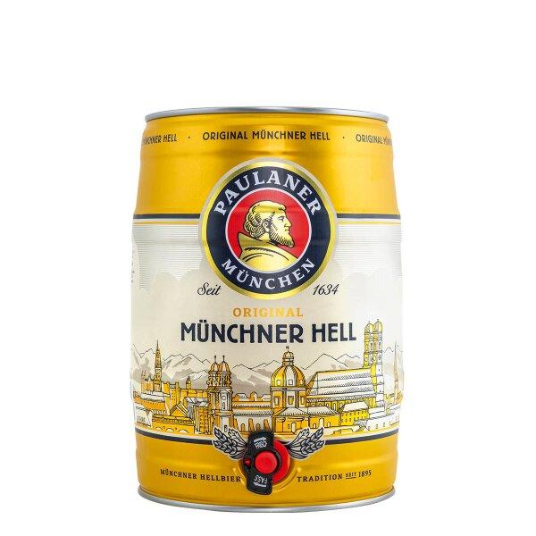 Paulaner Münchner Hell 5 liter Fass / Partyfass EINWEG